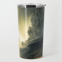 Supercell - Massive Storm Over the Great Plains Travel Mug