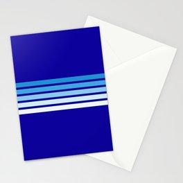 Retro Stripes on Blue Stationery Cards