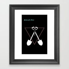 Shelter The Weak Dig Framed Art Print
