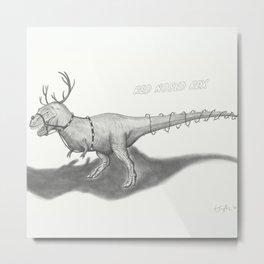 Red Nosed Rex Metal Print