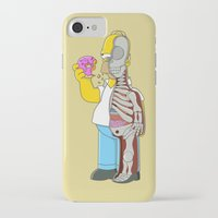 homer iPhone & iPod Cases featuring Homer  Anatomy by Damian