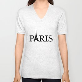 Paris Eiffel Tower Unisex V-Neck