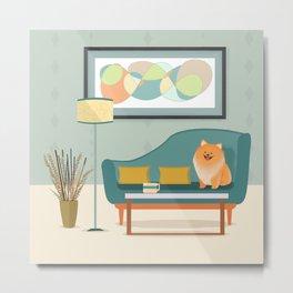 A Pomeranian Makes A House A Home Metal Print