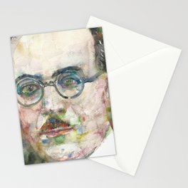 FERNANDO PESSOA - watercolor portrait.5 Stationery Cards