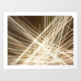 Angle Lights. Art Print