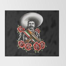 Emiliano Zapata Portrait Throw Blanket