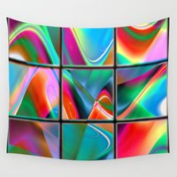 data Wall Tapestries featuring big data strategy puzzle by donphil