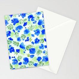 Floret (Blue) Stationery Cards