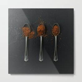 I have measured out my life with coffee spoons Metal Print