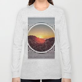 Peel Sunset  - line/circle graphic Long Sleeve T-shirt