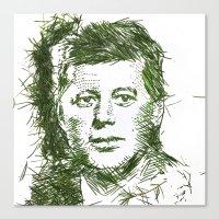 jfk Canvas Prints featuring JFK by Jessie Maxwell Bearden