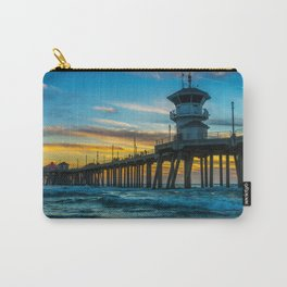 Winter Sunset at Huntington Beach Pier Carry-All Pouch