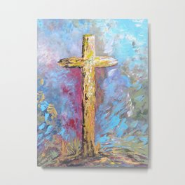 Colors of the Cross Metal Print