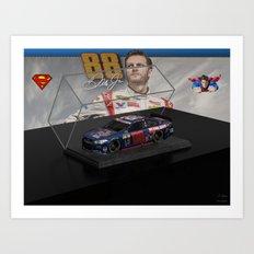 My Dale Jr. Super Man art. Art Print