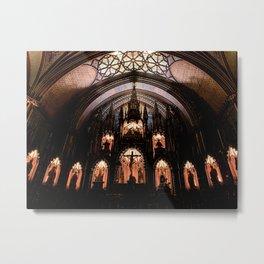 Inside Notre-Dame Basilica of Montreal Metal Print