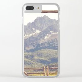Western Mountain Ranch Clear iPhone Case
