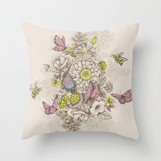 Beauty (eye of the beholder) - cream version Throw Pillow
