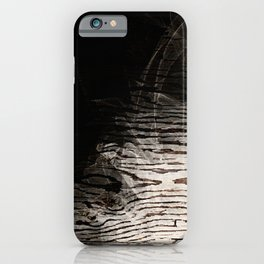 Modern Black Ink Oak Wood iPhone Case