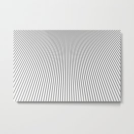 Black and White Vanishing Line Pattern Metal Print