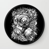chaos Wall Clocks featuring Chaos by toto6