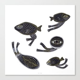 underwater surreal creatures Canvas Print
