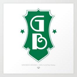 GREENBACK BOOGIES  //  Dchl Co-Ed Floor Hockey Art Print