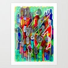 Finger's city Art Print