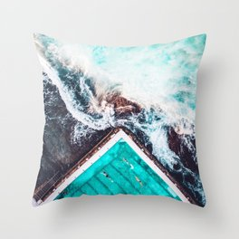 Sydney Bondi Icebergs Throw Pillow