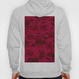 Vintage black gray red bohemian floral pattern Hoody