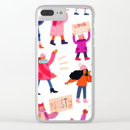 Marching Together Clear iPhone Case