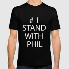 Stand With Phil MEDIUM Black Mens Fitted Tee