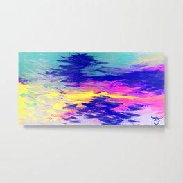 Neon Mimosa Inspired Painting Metal Print