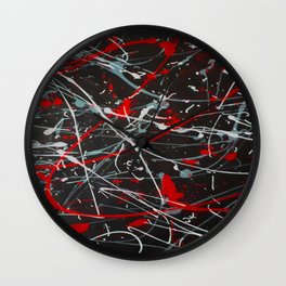 Screaming In Anger Wall Clock