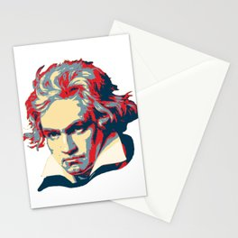 Beethoven Pop Art Stationery Cards
