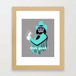 Macho Framed Art Print