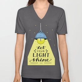 Let Your Light Shine Christian Religious Blessings Unisex V-Neck
