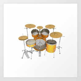Yellow Drum Kit Art Print