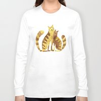 cats Long Sleeve T-shirts featuring Cats by Anna Shell