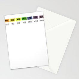 Gay agenda lgbt shirt Stationery Cards