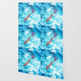 New Zealand Map : Square Wallpaper