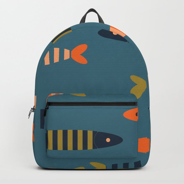 Striped fish - blue Backpack