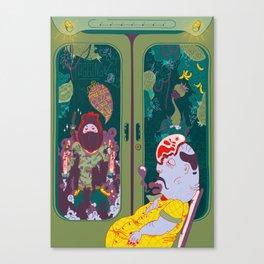 Graffiti Illustration - Behind Letters II Art Print Canvas Print