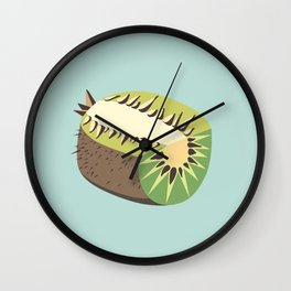 Kiwi illustration Wall Clock