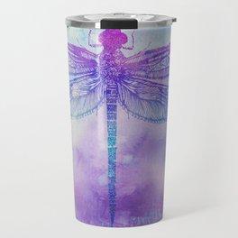 Mandala Dragonfly Travel Mug