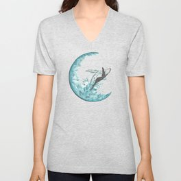 Sea Moonlight Unisex V-Neck