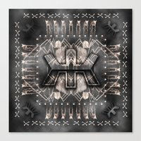 rose gold Canvas Prints featuring rose gold by Windom Morris