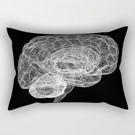 DELAUNAY BRAIN b/w Rectangular Pillow