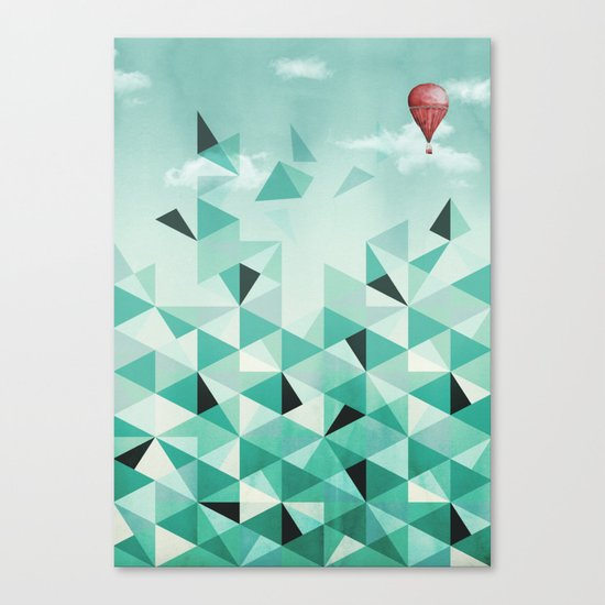 Emerald City (Blue Sky Version) Canvas Print