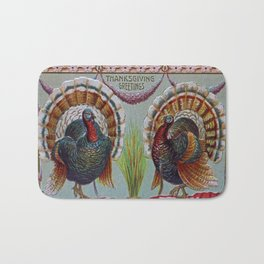 Thanksgiving Greetings 1906 Bath Mat