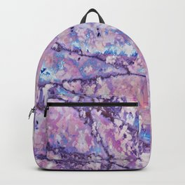 Violet and pink marble texture Backpack
